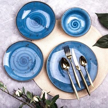 Marianna Azur 24 Parça Yemek Takımı Mavi Mavi